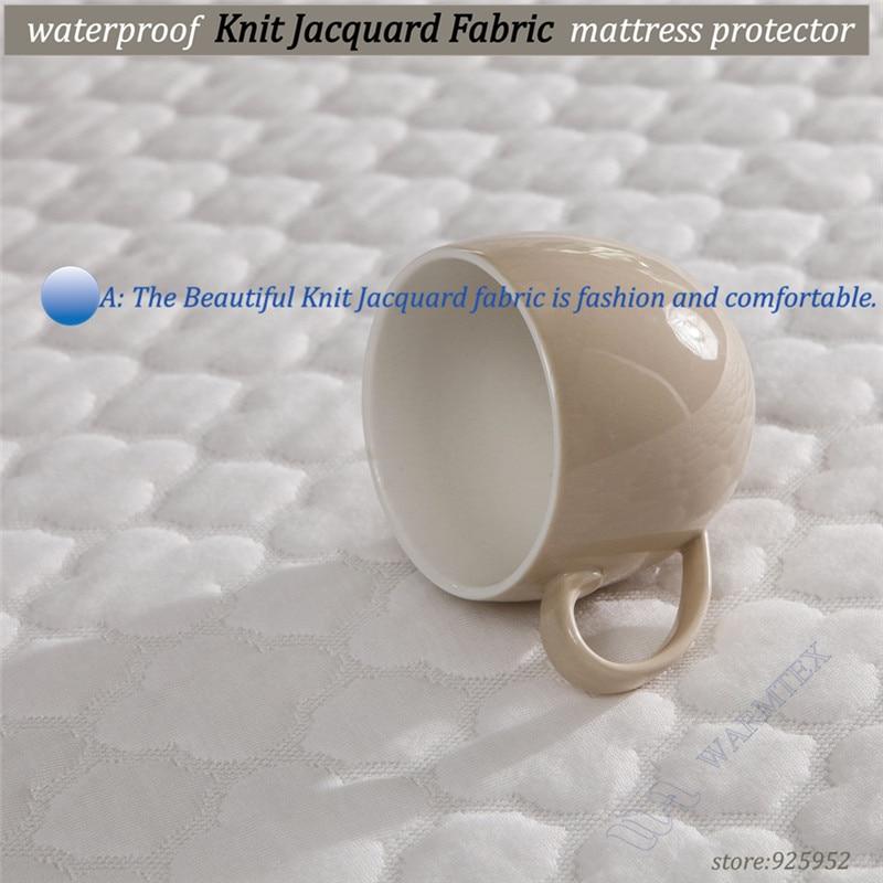 soft beautiful Jacquard cloth 100% waterproof mattress cover 120x200cm/190cm high quality customized A A