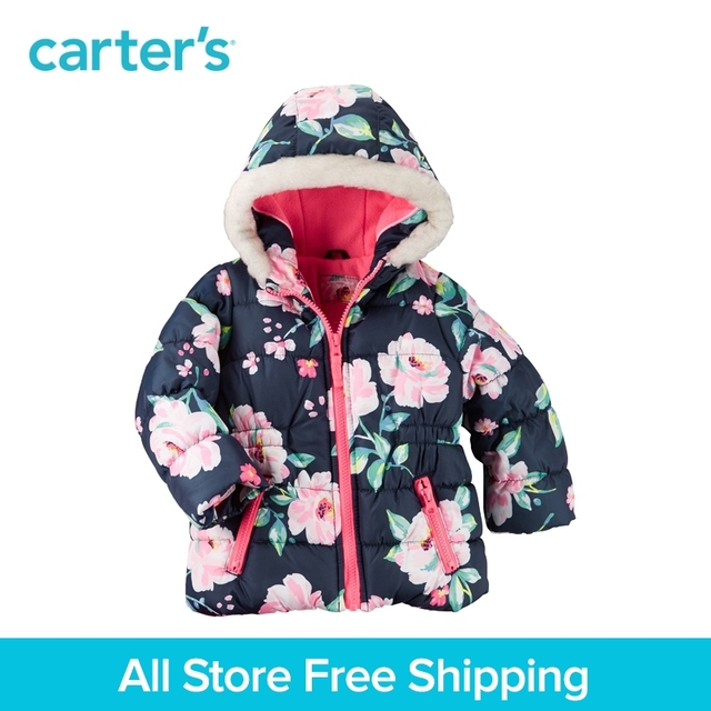 2a6fe34197bcd Carter's 1pcs baby children kids Print Floral Outwear Jacket CL216527,sold  by Carter's China official store