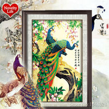 5D DIY Diamond Painting Cross Stitch Peacocks Kit Forest Animal Set Embroidery Rhinestone Round Crystal Wall Home Decor Pasted