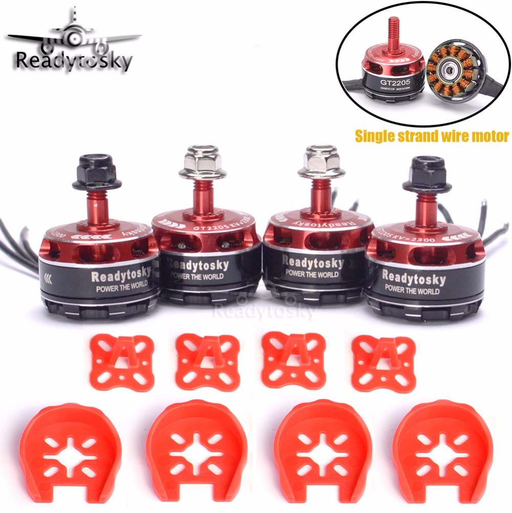 4x High Quality Readytosky GT2205 2205 2300KV 3-4S Brushless Motor for ZMR250 QAV-X Martian  FPV Racing Quadcopter wdiy motor2204 2300kv qav x qav210  4s