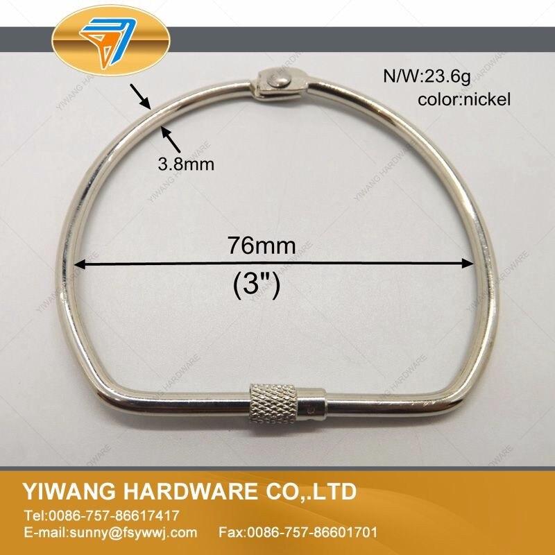pacote screw lock anel pendurado anel níquel