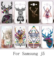 Aniaml Painting Phone Cover For Samsung Galaxy J5 2015 j500 Case With Secret GardenOwl Hard Plastic and Soft TPU Telephone Skin
