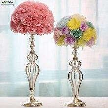 7b6ef58a0 8 unids/lote de vela del Metal flores floreros de boda centros de mesa  candelabro para boda/hogar Decoración candelabro GZT061