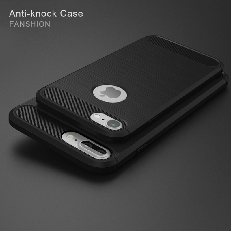 High Quality Soft Silicone Back Cover Phone Case For iPhone 7 7 Plus 6 6s Anti-knock Ultra-thin Coque For iPhone 5s 5 SE