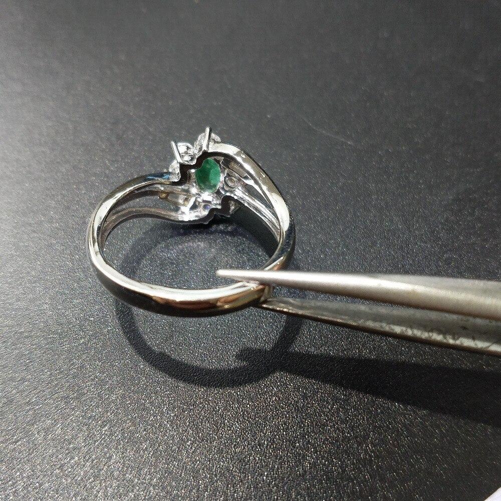 FLZB ، 100% الطبيعي الزمرد جوهرة 0.55ct ov 4*6 مللي متر أنيقة تصميم الفاخرة خاتم الأحجار الكريمة في 925 الاسترليني خاتم فضة لسيدة-في خواتم من الإكسسوارات والجواهر على  مجموعة 3