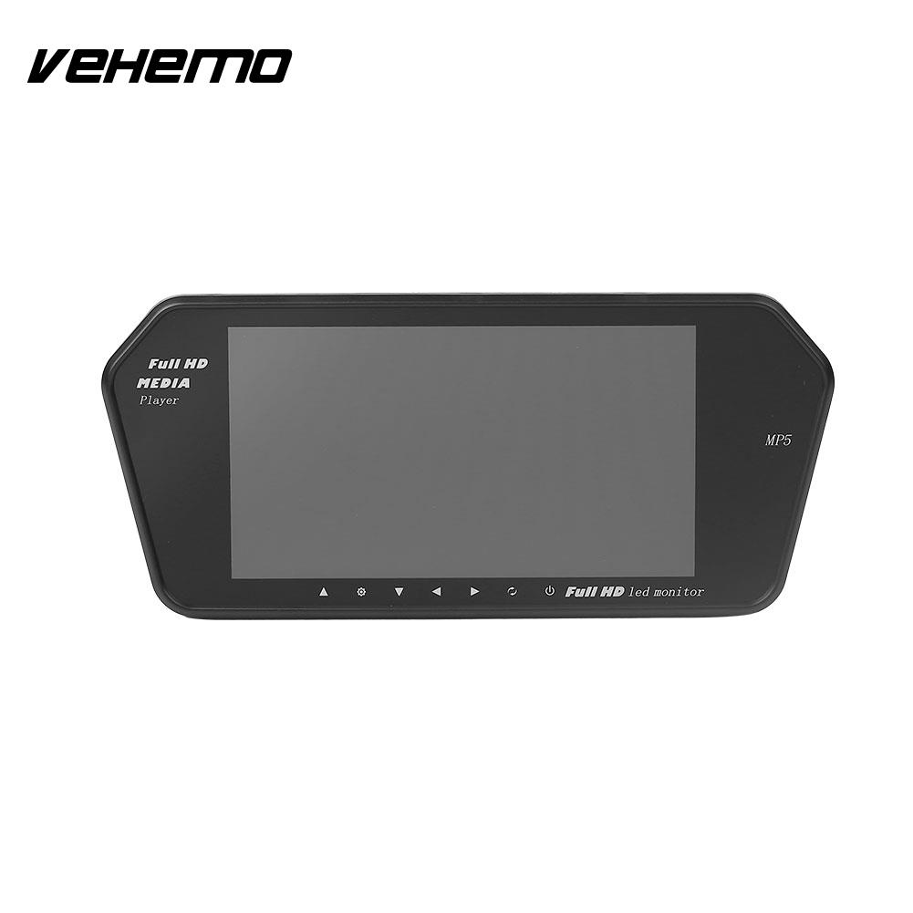 Vehemo 7 Pouces LCD MP5 Écran De Voiture Arrière Vue Caméra Miroir Moniteur 2 Entrées Vidéo