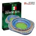 CubicFun 3D puzzle DIY toy child C059H gift paper model Estadio Azul Mexico Alsou Stadium building world's great architecture