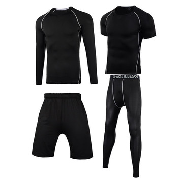 Men Sportswear Compression Sport Suits Quick Dry Running Sets Clothes Sports Joggers Training Gym Fitness Tracksuits Running Set 29