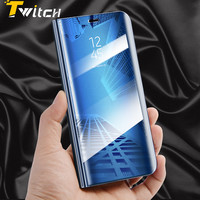 Smart Case Mirror Cover Clear View For Samsung Galaxy S8 Plus S7 S6 Edge Smart Bag