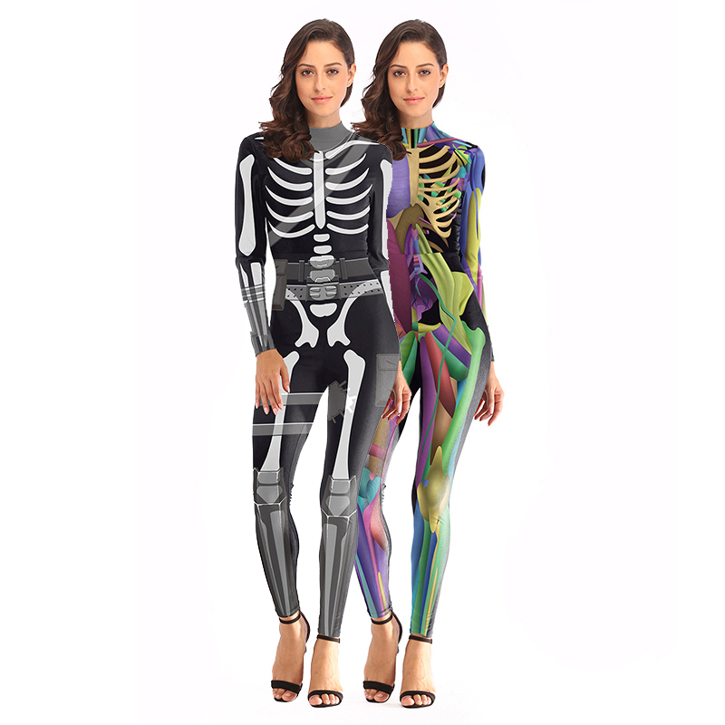 Womens' Skull Ranger Cosplay Costume Party Christmas  Carnival Costumes Birthday Gift Fancy Dress FortnitedGame Cosplay Dress