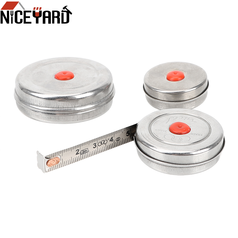 Measuring Tool Woodworking Tape Measure 1m 2m 3m Stainless Steel Mini Retractable Tape for Home Factory Office