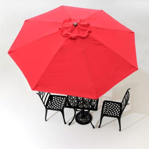 13ft Umbrella Replacement Canopy Outdoor Patio Gazebo 8 Rib Red