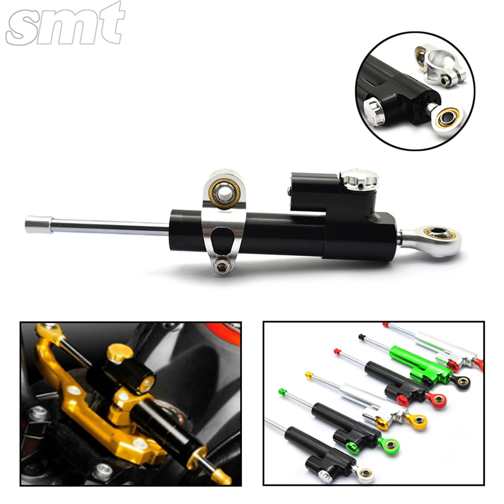 Universal Motorcycle CNC Damper Steering Stabilizer Damper Linear Reversed Safety Control for ninja 300 bmw r1200gs mt-07