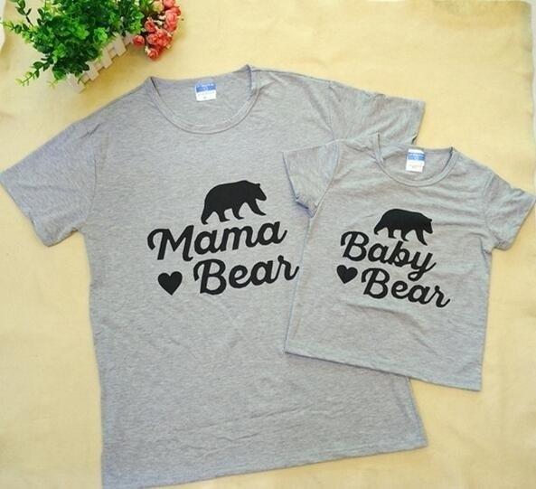 SchöN Hahayule-jbh 2019 Sommer Neue Mode Familie Mama & Baby Bär T-shirts-nette Strampler Neue Mutter Mummy Geschenk ZuverläSsige Leistung