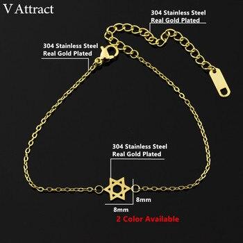 Bracelet de charme en  acier Inoxydable Étoile De David  1