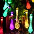 Qualidade Premium 6 m 30 LED Solar Luzes De Natal 8 Modos À Prova D' Água Gota de Água Solar Luzes Cordas de Fadas para o Exterior jardim