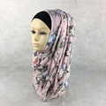 Free Shipping Muslim Floral hijabs Fashion Jersey Cotton Headband floral design 16 colors Women scarves & wraps  Islamic Hijab