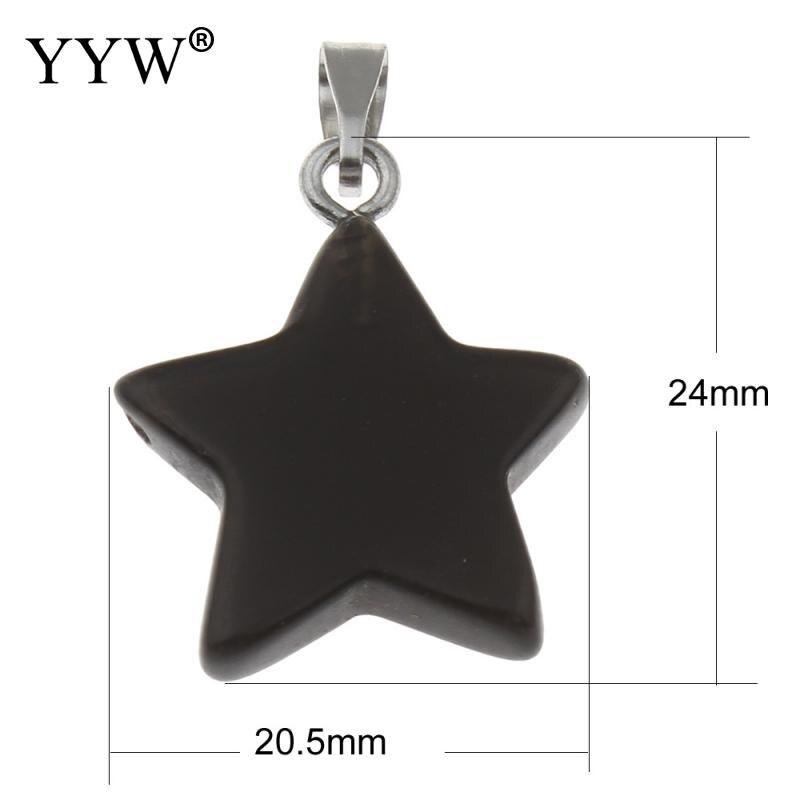 High quality natural stone pendant Purple crystal quartz crystal pendants star specimens pendulum chakra healing