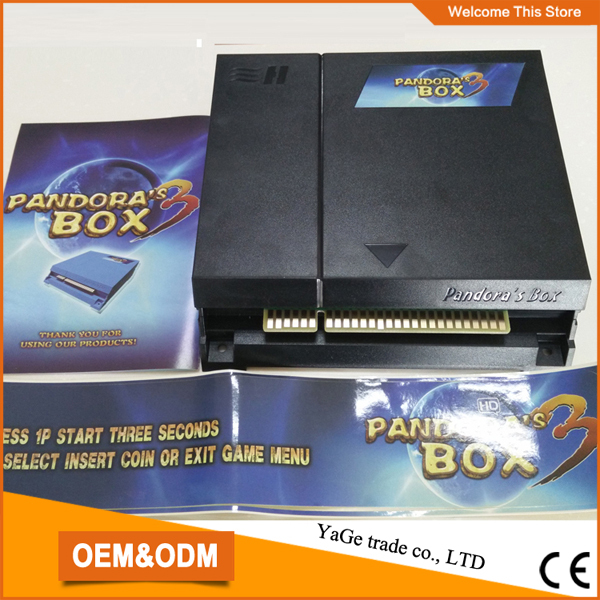 Pandora's box 3(English Edition) jamma arcade cabinet multi game board Pandora 520 in 1 games pcb multigame card VGA & CGA