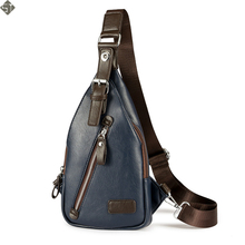 Brand Leather Men's Fashion Crossbody Bag Theftproof Button Open Leather Chest Bags Men Shoulder Bags Chest Waist Pack