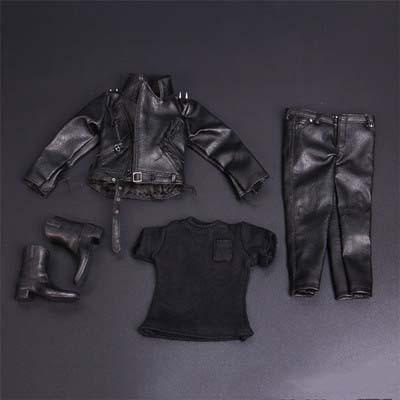1/6 Terminator Leather Jackets Punk Set Locomotive Black Cool Warrior Model Clothing Set Fit 12 Male Action Figure Doll Toys.