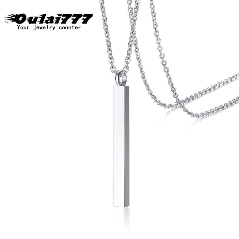 wholesale stainless steel fashion jewelry necklace women men boho pendants on the neck chain Silver  long necklace best friend