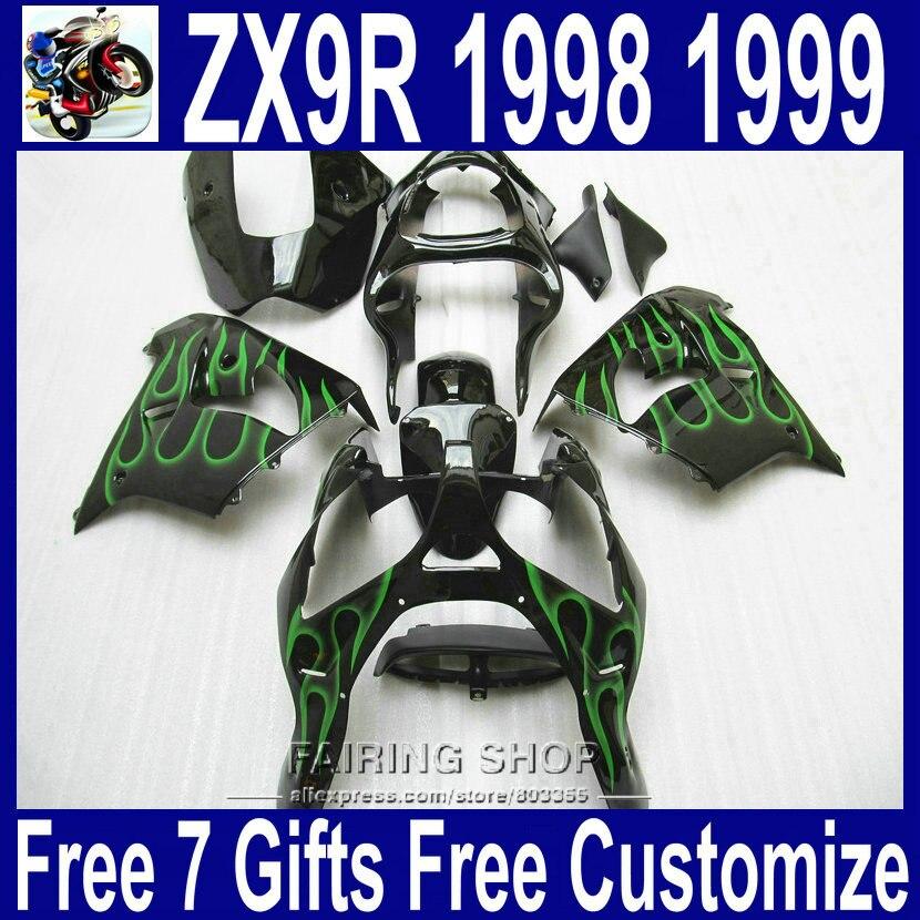 Shipping EMS free fairings ZX9R 1998 1999 98 99 For Kawasaki ninja ( Flame green ) All plastic parts Fairings xl29Shipping EMS free fairings ZX9R 1998 1999 98 99 For Kawasaki ninja ( Flame green ) All plastic parts Fairings xl29