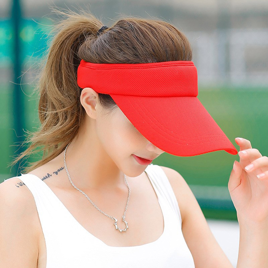 Fashion Hats 2018 2019 Women's Summer Neutral Empty Top Tennis Golf Visor Sun Girls Hat Sun Beach Sunhat Sports Cap Adjustable