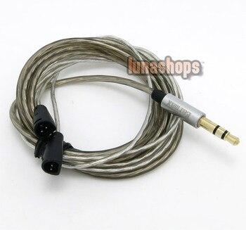 LN004032 110cm Earmax Silver palted Headset Earphone upgrade cable For Sennheiser IE8 IE80 Earphone