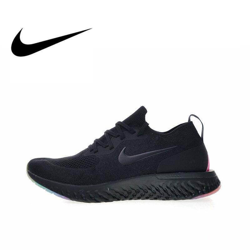 Original Et Authentique Nike Epic Réagir Flyknit Être Vrai Mens chaussures de course Sneakers Respirant Sport En Plein Air Durable Jogging AR3772