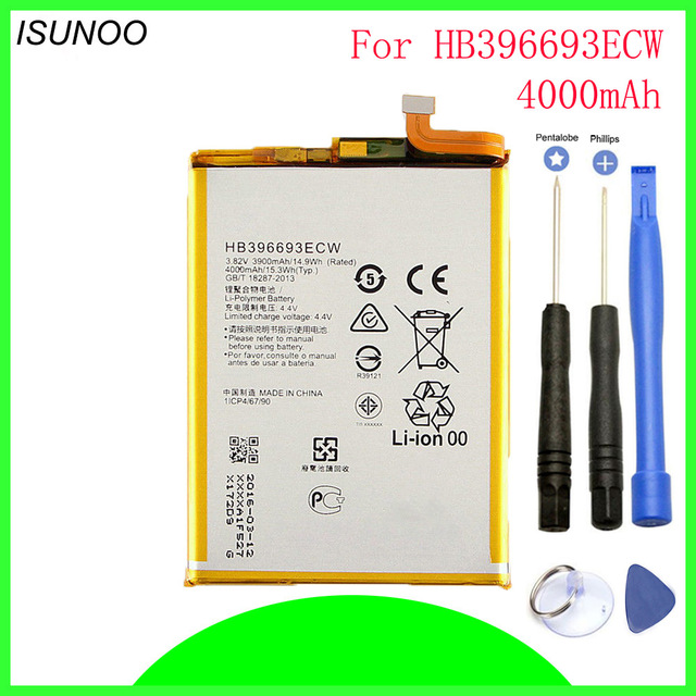 4000mAh HB396693ECW battery For Huawei mate 8 NXT-AL10 NXT-TL00 NXT-CL00 NXT-DL00 Rechargeable phone batteries with tools4000mAh HB396693ECW battery For Huawei mate 8 NXT-AL10 NXT-TL00 NXT-CL00 NXT-DL00 Rechargeable phone batteries with tools
