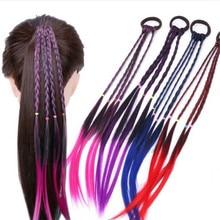 Простая детская эластичная резинка для волос, резинка для волос, аксессуары для волос, Детский парик, повязка на голову, для девочек, скрученная коса, веревка, головной убор, заколка для волос