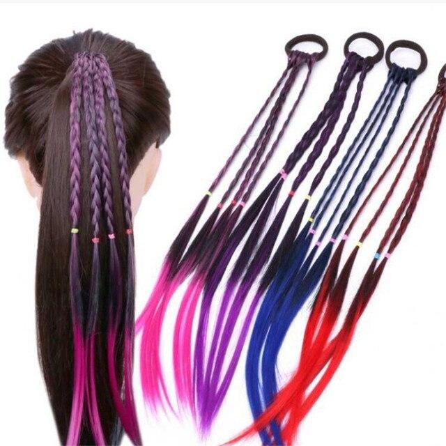 Banda de pelo elástica Simple para chico accesorios para el cabello chico goma para niños peluca para niñas trenzada trenzadora de pelo