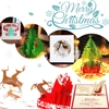 Vintage 3D Pop Up Greeting Card Vintage Merry Christmas Cards Gifts Tree Postcards Pack Of 6