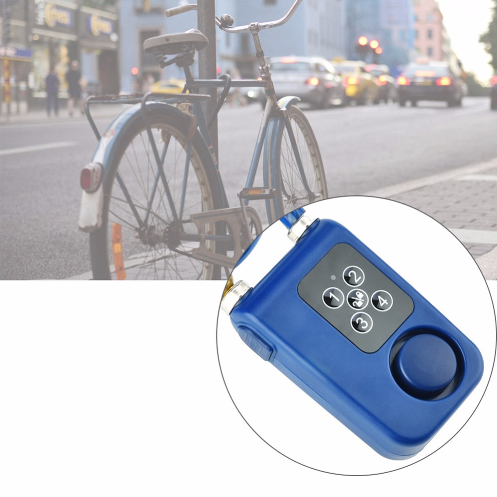 Bicycle Bluetooth Chain Smart Lock Anti Theft Alarm APP Control For Bike Gate