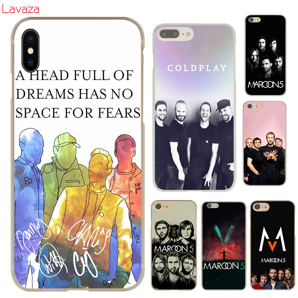 Lavaza Maroon 5 Hard Phone Case for Apple iPhone X 10 8 7 6 6s Plus 5 5S SE 5C 4 4S Cover Coque Shell