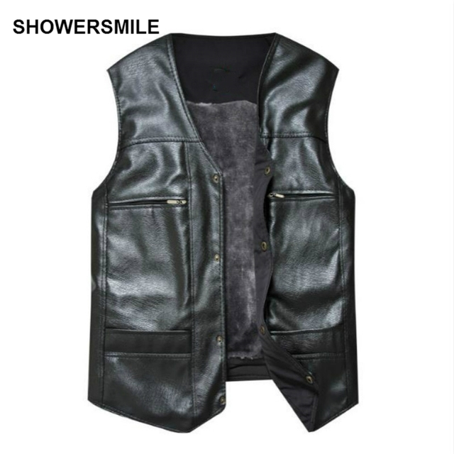Aliexpress.com : Buy SHOWERSMILE Brand Large Size Black Leather ...