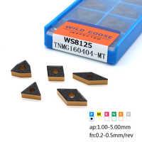 10 stücke TNMG160404 CNMG120404/08 WNMG080404/08 DNMG150404/08 Hartmetall Einfügen Externe Drehen Werkzeug Drehmaschine Cutter Werkzeug CNC für Stahl