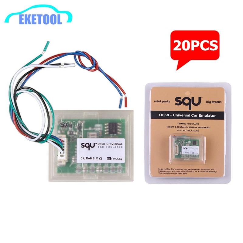 20pcs/Lot SQU OF68 Car Emulator Universal MINI Parts Big Works Signal Reset IMMO/Seat Occupancy Sensor/Tacho Programs-in Car Diagnostic Cables & Connectors from Automobiles & Motorcycles on