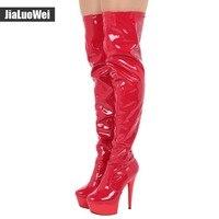 High Heels Over the knee Long boots Women Sexy Boots Heels Snow Long Boot Winter Shoes Zip Thigh High Boots Platform Shoes