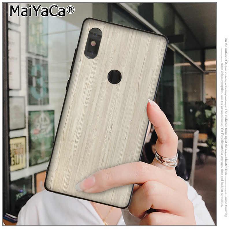 Babaite textura patrón de madera negro Funda de teléfono de TPU blanda funda para xiaomi mi 6 8 se note2 3 mi x2 redmi 5 5plus Nota 4 5 5