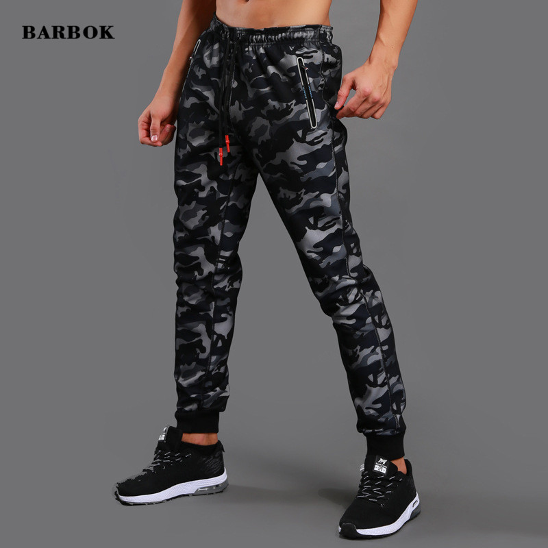 RARBOK Men Sports Training Pants Pockets Hiking Running Autumn Spring Workout Pants Elasticity Legging Jogging Gym
