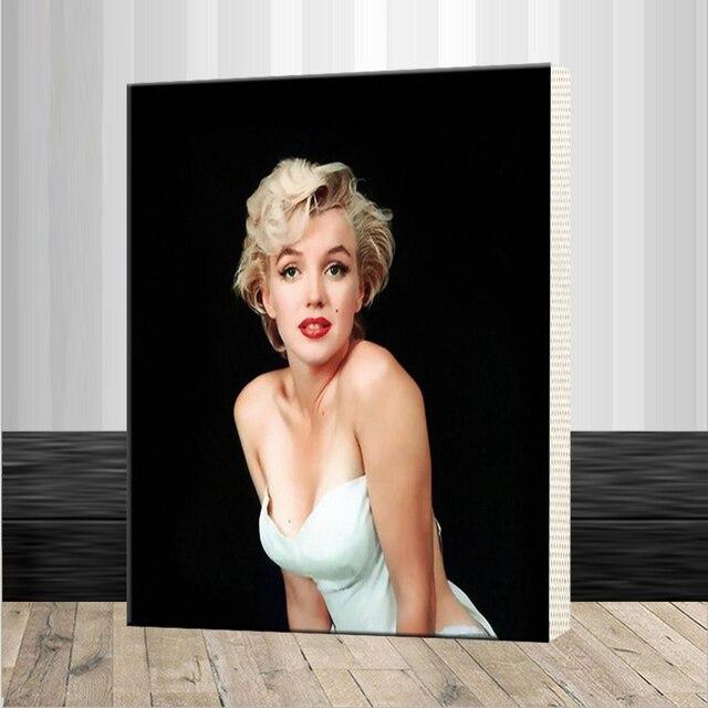 Pintura al óleo de DIY por números Sexy Marilyn Monroe con marco ...