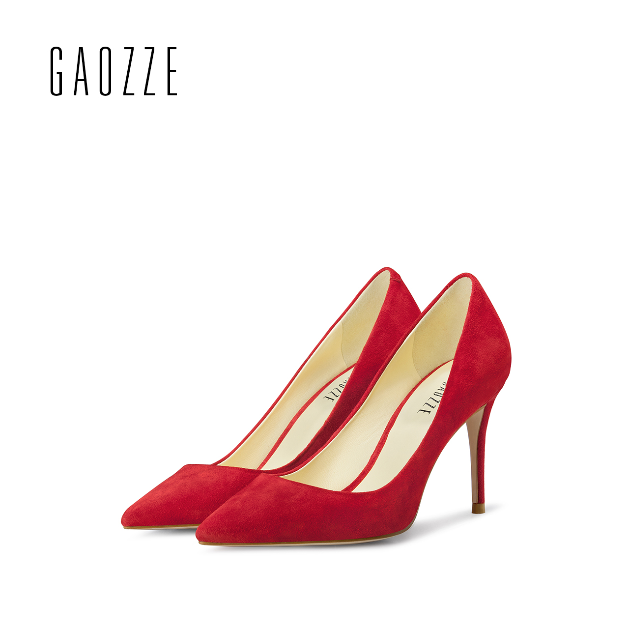 GAOZZE women Genuine Leather shoes high heel pumps 2017 shallow mouth sexy pointed toe women red wedding shoes autumn new universe women s shoes genuine leather wedges shallow mouth pointed toe buckle strap e073