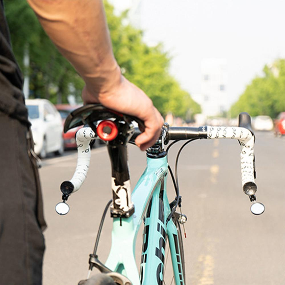 Bike MTB Bicycle Rearview Mirror Handlebar End 360° Rotate Rear Back View Surpri