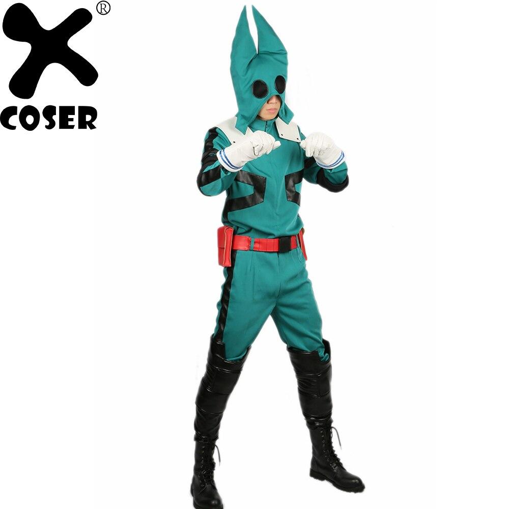 XCOSER Midoriya Izuku Costume Halloween Cosplay Full Set Suit With Prop Show Midoriya Izuku Cosplay Costume For Men