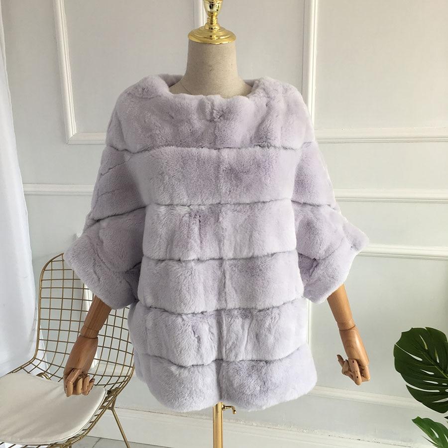 2018 Nuovo Reale Chinchilla Rex Del Coniglio Cappotto di Pelliccia 100% Genui Vari Colori Spessore Caldo Breve Real Rex Pelliccia Del Coniglio Caldo giacca di pelliccia