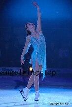 figure skating dance dress girls ice skating dancing dresses women competition skating dresses crystals free shipping