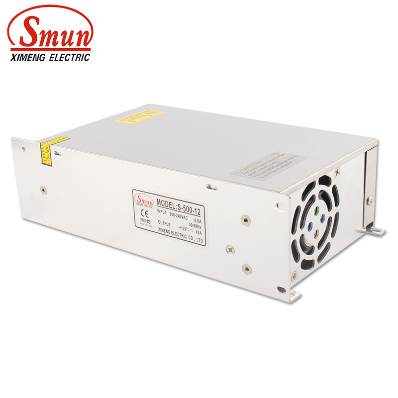 SMUN S-500-12 500W 12VDC 40A Single Output Switching Power Supply With CE ROHS Certificates image