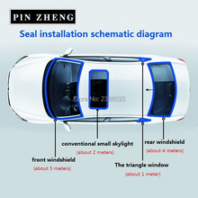 5meters noise insulation window Waterproof Rubber Seal Strip Trim For Auto Car Front Rear Windshield Sunroof Triangular Window
